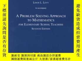 二手書博民逛書店Problem罕見Solving Approach To Mathematics For Elementary S