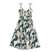洋裝連身裙 吊帶裙女海邊度假連身裙沙灘裙