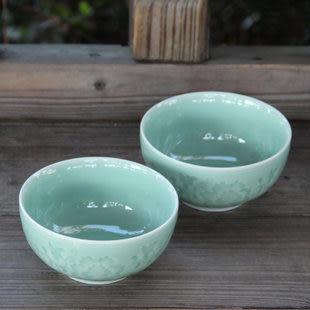 靈青坊龍泉青瓷玻璃陶瓷碗綠色