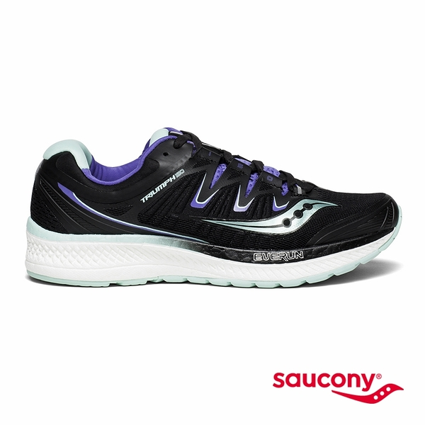 SAUCONY TRIUMPH ISO 4 專業訓練女鞋-黑x湖水綠x藍紫