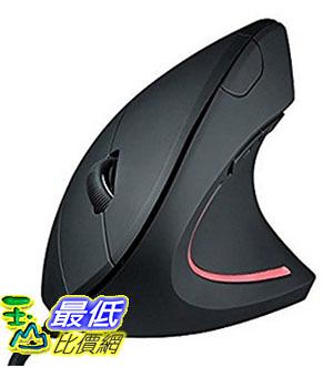 [美國直購] Sharkk Vertical Ergonomic High Precision Optical Mouse 光學滑鼠 Adjustable DPI 800 / 1200 / 1600 Wired
