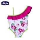 【零碼出清】chicco-海洋假期-斜肩連身泳裝-花朵