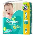 日本巧虎版幫寶適加倍乾爽嬰兒紙尿布(境內巧虎版)黏貼型S-102片/包 -超級BABY
