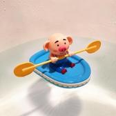 海草豬兒童洗澡玩具劃船皮艇兒童沐浴兒童發條戲水玩具狗抖音同款
