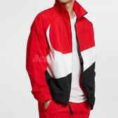 Nike 外套 Big Swoosh Jacket 紅 黑 白 男款 機能 大勾勾 長袖 上衣 夾克 立領外套 【PUMP306】 AR3133-657