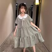 女童夏裝洋裝2020新款洋氣大童女孩時尚夏季兒童裝短袖裙子12歲 梦幻衣都