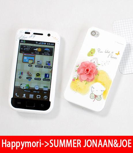 【韓國正品原裝 Happymori】※Girls spring breeze※  前殼+背殼手機保護殼適用iphone4s/4  Galaxy S2 i9100