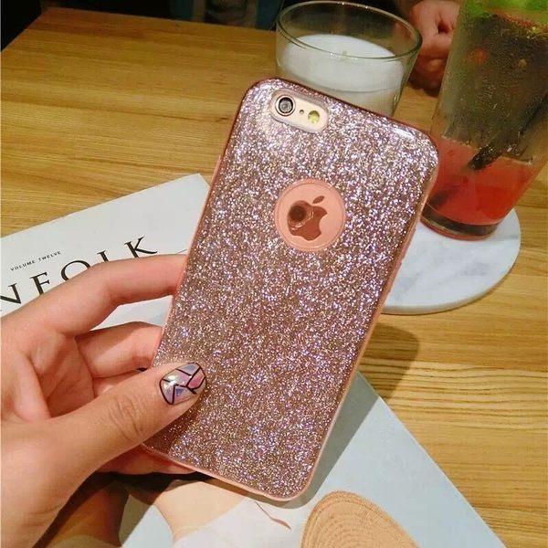 iPhone手機殼 韓國代購女神必敗款 閃閃惹人愛 矽膠軟殼全包 蘋果iPhone7/iPhone6手機殼