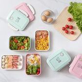 飯盒便當盒學生食堂簡約可愛微波爐專用分格韓國創意成人密封塑料限時八九折