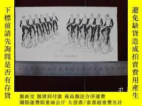 二手書博民逛書店【罕見】1890年小幅木刻版畫《駕駛四驅車》(quadrille