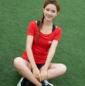 夏季顯瘦韓國圓領健身瑜伽服運動短袖套裝三件套Eb16679『M&G大尺碼』