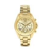 【Michael Kors】美式經典羅馬時標氣質鋼帶腕錶-耀眼金/MK5798/台灣總代理公司貨享兩年保固