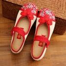 降價兩天 新款老北京兒童布鞋中國風女童繡花鞋民族風公主學生古裝表演出鞋