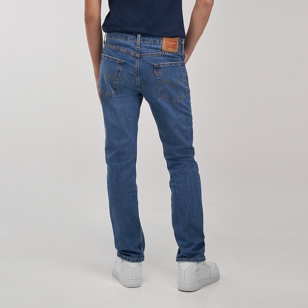 Levis 男款 上寬下窄 502Taper牛仔褲 / 中藍基本款 / 彈性布料
