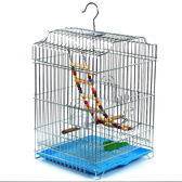 特大號電鍍不銹鳥籠八哥鷯哥大型鳥籠子玄風牡丹鐵藝鸚鵡籠wy 交換禮物