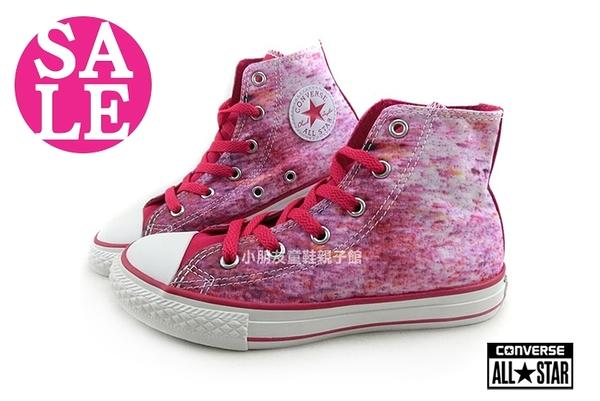 奧森鞋業親子館◆All STAR★Converse帆布鞋 中童 經典彩繪風 高筒休閒鞋 零碼出清 G9840#紫色
