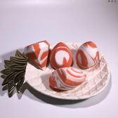 鑽石款美妝蛋魚繫列三文魚混色粉撲