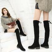 過膝長靴子女小辣椒彈力瘦瘦靴韓版百搭顯瘦高筒靴潮  名購居家