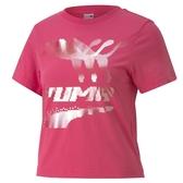 PUMA 女款粉色流行系列EVIDE短袖T恤-NO.59776425