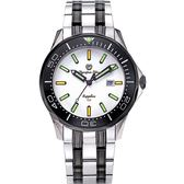 Olympia Star 奧林比亞之星 神盾系列極限氚氣石英腕錶-雙色