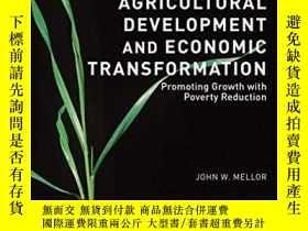 二手書博民逛書店Agricultural罕見Development And Economic TransformationY2