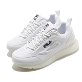 Fila 休閒鞋 J327V 小白鞋 全白 大氣墊 全氣墊 男鞋 百搭款 運動鞋 【ACS】 1J327V111