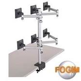 [富廉網] FOGIM TKLA-6036-S 夾桌懸臂式液晶螢幕支架(六螢幕)(和順電通)