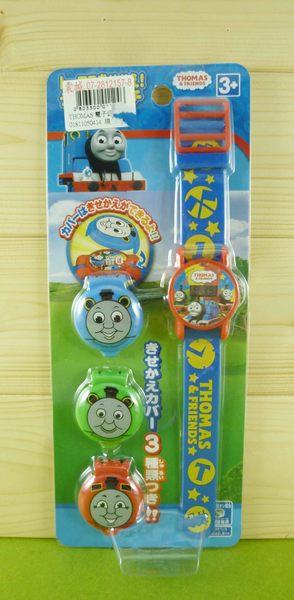【震撼精品百貨】湯瑪士小火車Thomas & Friends~可換蓋電子錶~藍紅