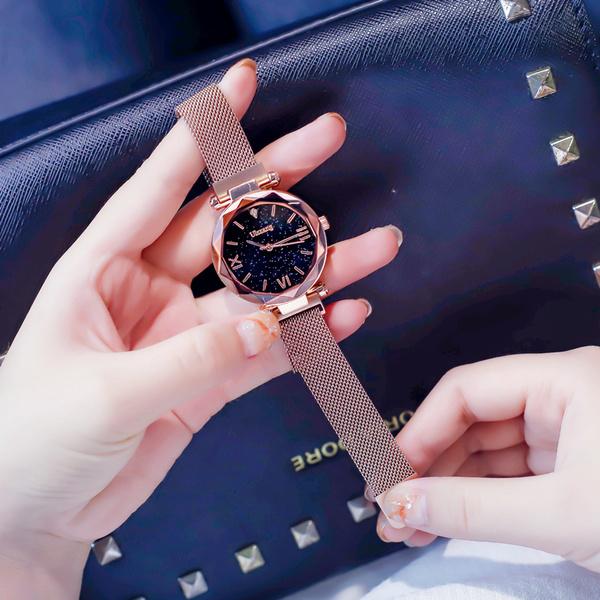 流行女錶 星空手錶女士時尚潮流防水同款抖音網紅新款韓版簡約女錶學生 店慶降價