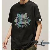 短袖T恤男士寬鬆印花圓領百搭純棉休閒半袖【邻家小鎮】