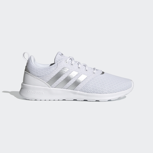 Adidas Qt Racer 2.0 Neo-05 [FY8313] 女鞋 運動休閒 輕量 透氣 緩衝 愛迪達 白 銀