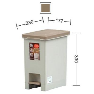 [奇奇文具]     KEYWAY VO-010 長島10L踏式垃圾桶