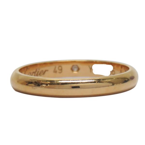 Cartier 卡地亞 1895系列鑲單鑽18K金戒指 Wedding Band Ring 49號【BRAND OFF】