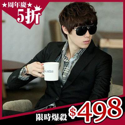 西裝外套男外套大尺碼韓修身顯瘦薄外套衣服【A9F0175】