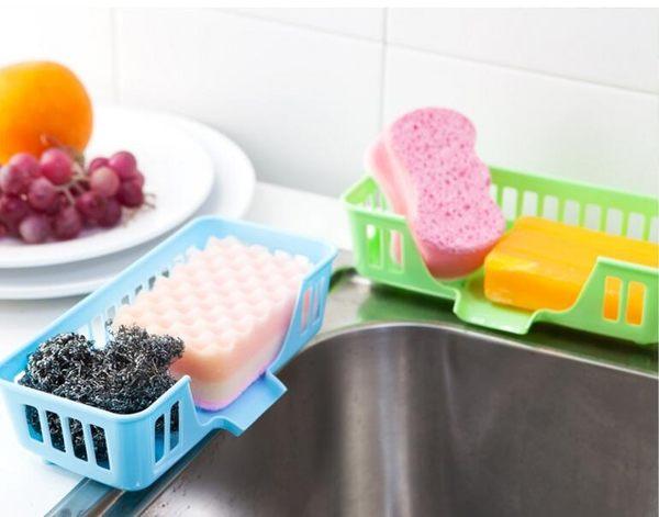 【TT404】創意廚房用品用具水槽小工具置物架 塑膠洗碗布收納架抹布瀝水架
