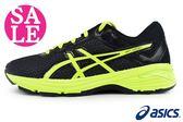 ASICS慢跑鞋 大童鞋 GT-1000 透氣運動鞋 足弓鞋墊  M7629#黑黃 零碼出清 ◆OSOME奧森童鞋/小朋友