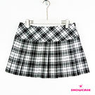 【SHOWCASE】格紋百褶短褲裙(格紋)
