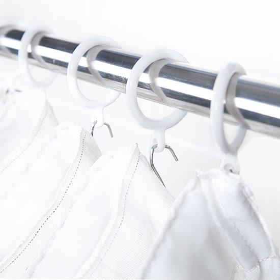✭米菈生活館✭【M172】象牙款家用浴簾環(8入) 浴室 衛浴 防水 扣環 連接 掛環 掛鉤 懸掛 防水