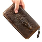 長夾 真皮-經典鱷魚紋歐美風格男錢包15色73lu47【巴黎精品】