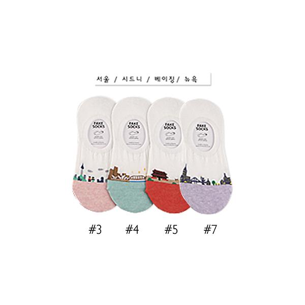 韓國房屋造型隱形襪-多款任選 (SOCK-24-WF)