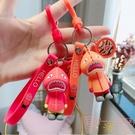 可愛潮品鯊魚人鑰匙扣情侶包掛件鑰匙鏈【聚可愛】