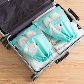 ✭米菈生活館✭【P294】便攜式防塵束口袋(小) 透明櫥窗 整理包 旅遊 出國 洗漱用品 毛巾 鞋袋