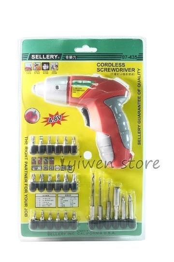 SELLERY舍樂力4.8V充電起子機套裝組/07-435