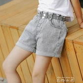 女童牛仔短褲夏裝十歲女孩7百搭外穿洋氣6夏季薄款大童兒童褲子 米娜小鋪