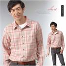 【大盤大】(S32798) 男 100%純棉襯衫 格子襯衫 厚 長袖棉衫 休閒衫 現貨 輕刷毛 抗靜電【剩M和L號】