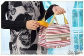 ~Dolly  館~╮清新帆布鋁箔防水保溫條紋便當盒包飯盒袋保冷袋手拎包收納袋3 色20910