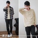 美式休閒風百搭素面網眼長袖POLO衫 現+預 (卡其) 樂活衣庫【7150】