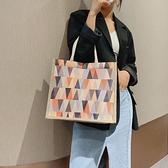 手提包 大容量夏季帆布包包女包2021新款潮網紅時尚手提包百搭ins托特包 【618 大促】