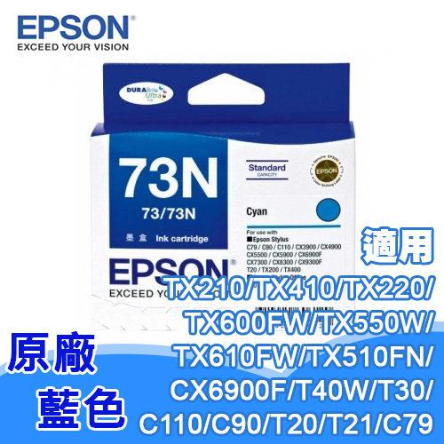 EPSON 73n T105250 原廠墨水匣 藍色 (T20/T30/T40W/TX100/TX200/TX300F/TX600FW)