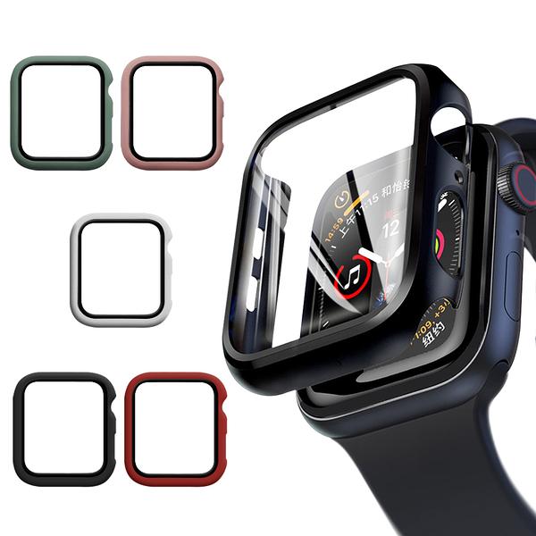 CITYBOSS for Apple watch一體成形式玻璃加保護殻-40mm